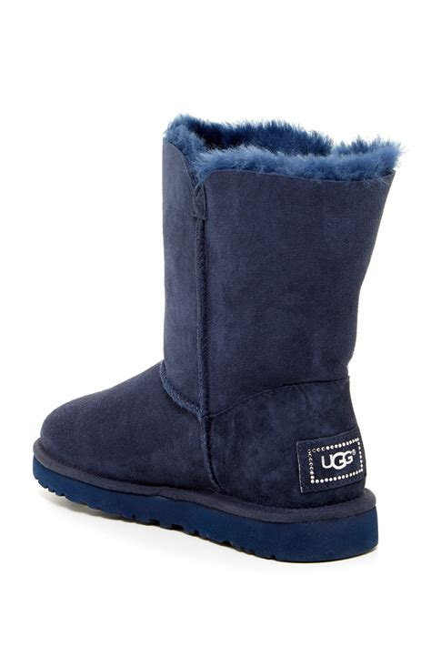 nordstrom rack uggs ugg australia bailey button bling genuine shearling boot