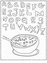Coloring Alphabet Soup Pages Abc Printable Worksheets Letter Letters Sheets Bestcoloringpagesforkids Printables Teenagers Popular Coloringhome sketch template