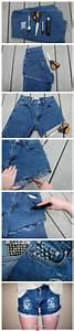 Jeans to shorts DIY. Love the rough denim effect! | clothes | Pinterest | Creativity DIY ...