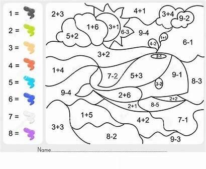 Worksheets Subtraction Addition Coloring Kindergarten Worksheethero Worksheet