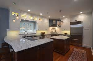 White Thunder Granite Kitchen