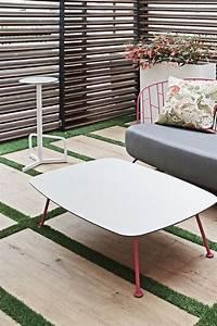 Table Basse Jardin Metal : table basse rectangulaire 100 cm maj ext rieur de jardin en m tal acier de couleur et plateau en ~ Teatrodelosmanantiales.com Idées de Décoration