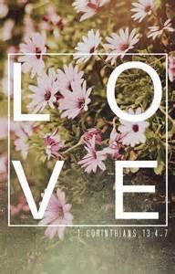 Love 1 Corinthians 13 4-7