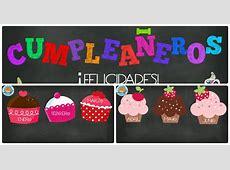 Carteles didácticos para los cumpleaños español e inglés