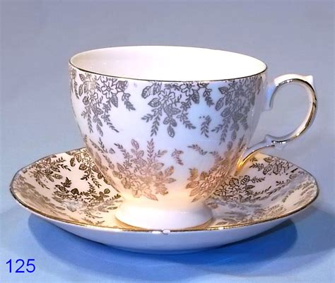 Royal Vale Gold Chintz Vintage Bone China Cup and Saucer Shape 2: Collectable China