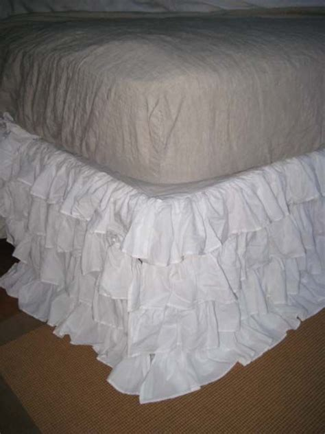 shabby chic bedskirt shabby chic white bed linen shabby french chic cotton ruffled white tiered bed skirt crafty