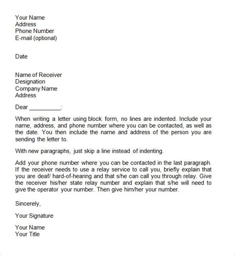 business letters format    documents