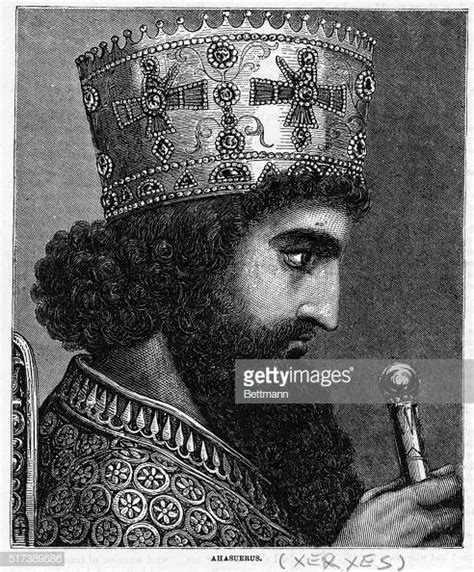 Darius King by Illustrated Portrait Of Xerxes I Pictures Getty Images