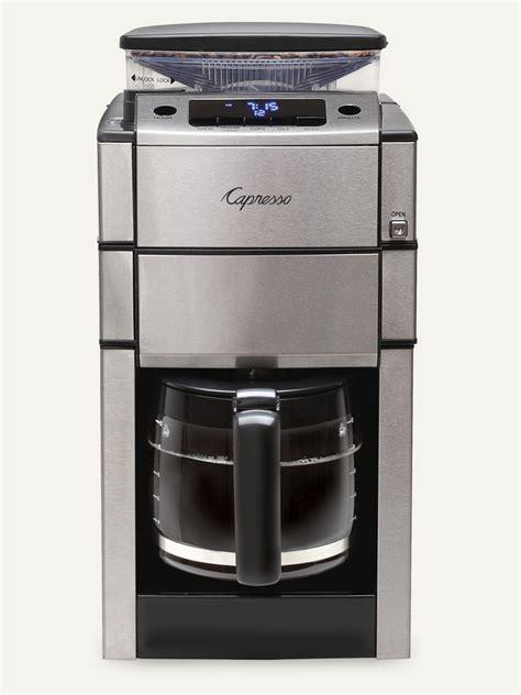 CoffeeTEAM PRO Glass Coffee Maker & Conical Burr Grinder Capresso