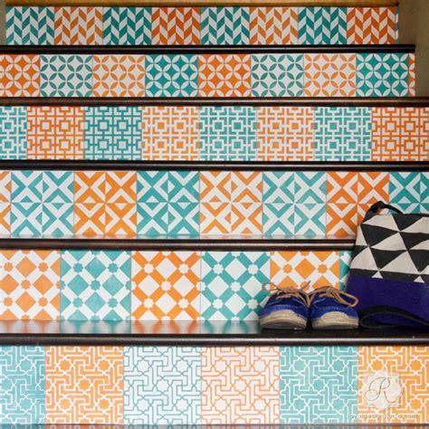 tile patterns for kitchen backsplash tile stencils for walls floors and diy kitchen decor