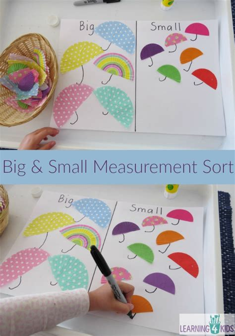 big  small measurement sort learning  kids