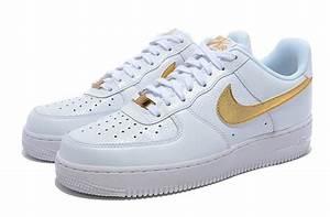 chaussure nike pour femme,air force 1 basse blanche et doré,nike air force basse