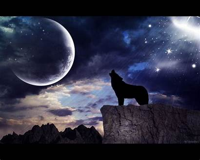 Wolf Moon Howling Wallpapers