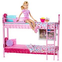 barbie sisters bunk beds play set walmart com