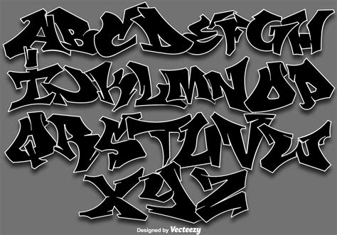 Grafiti Abjad Sulit : Lettres Alphabet Graffiti Vector
