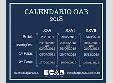 Calendário das provas da OAB em 2018 Estudar para OAB