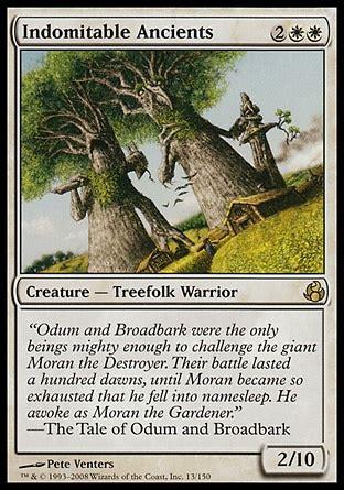 magic the gathering treefolk deck indomitable ancients morningtide