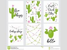 Set Cute Readytouse Gift Tags With Cactus Printable