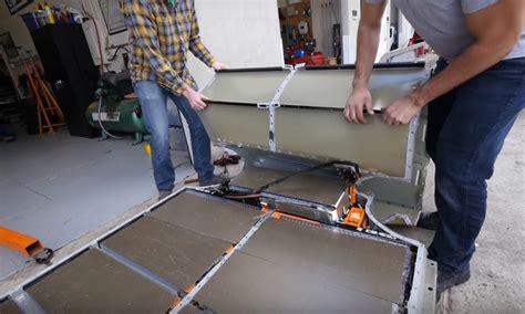 tesla model  battery teardown performed