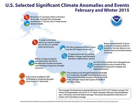 february climate anomalies precipitation temperature enlarge