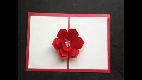easy     flower pop  paper card tutorial