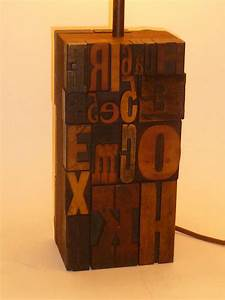 great 1960s print block letters collage table lamp for With printing block letters for sale