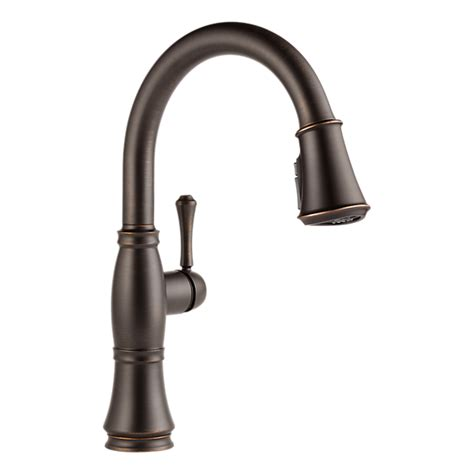 delta faucet cassidy 9197 9197 rb dst single handle pull kitchen faucet
