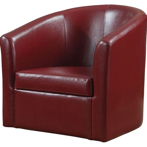 coaster barrel faux leather club chair chairs upholstered
