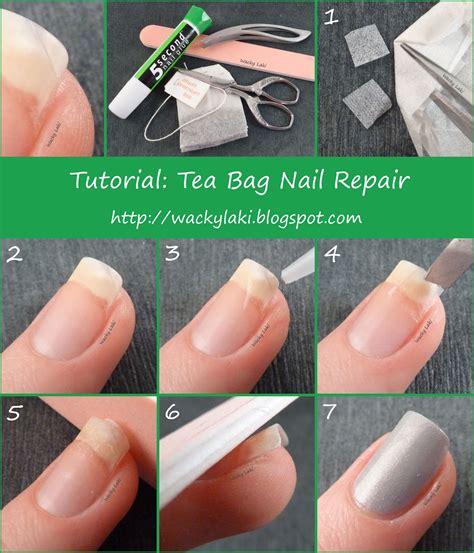 wacky laki tutorial tuesday tea bag nail repair