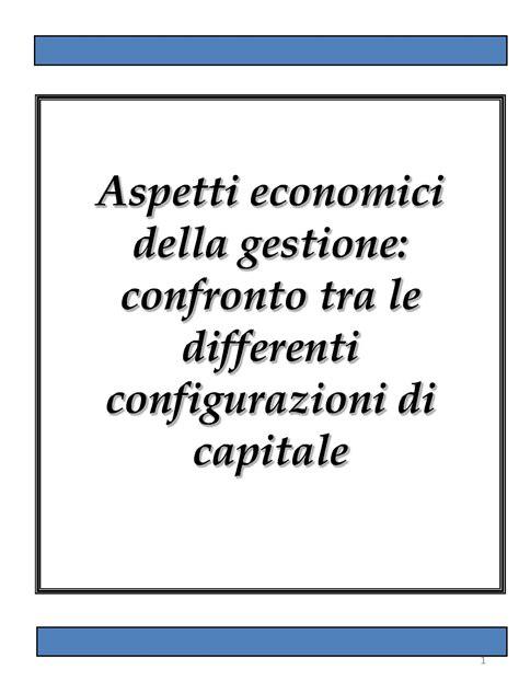 dispensa di economia aziendale configurazioni di capitale dispense