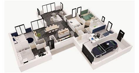 plan de maison   chambres