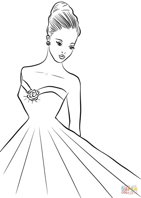 woman coloring page  printable coloring pages