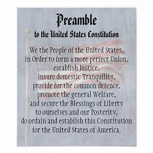 We The People  Preamble Us Constitution Classroom Poster