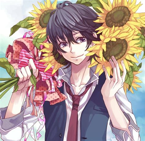 honeyworks anime adaptation anime boys sunflowers and anime on