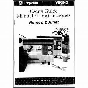 Instruction Manual  Viking Romeo And Juliet   Sewing Parts