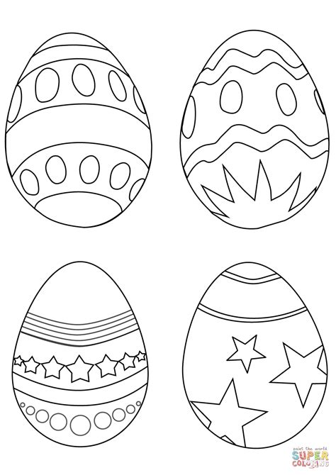 simple easter eggs coloring page  printable coloring