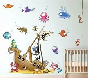 Piraten Deko Kinderzimmer : individuelles wandtattoo im kinderzimmer ausw hlen ~ Frokenaadalensverden.com Haus und Dekorationen