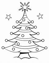 Christmas Coloring Tree Pages Printable sketch template
