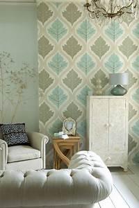 Wallpaper feature wall ideas living room walls for Wallpaper designs for living room wall