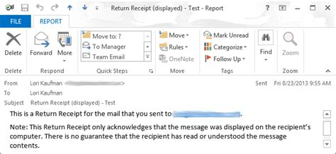 how to request a delivery read receipt in outlook 2013