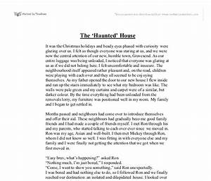 essay on the haunted house