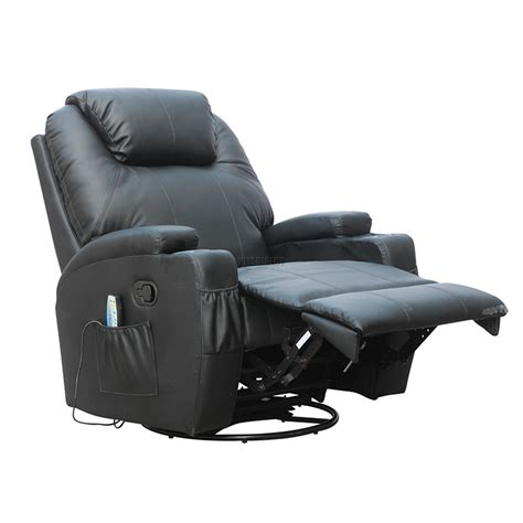 foxhunter bonded leather recliner chair cinema