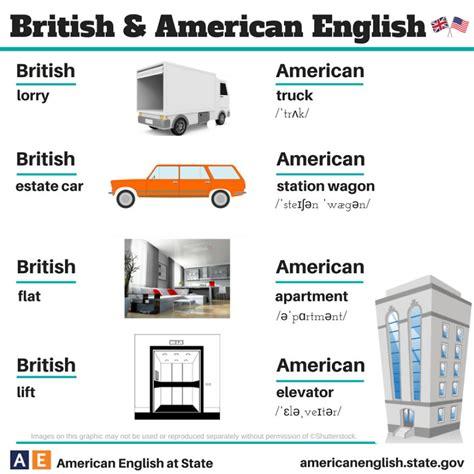 british  american english  differences illustrated