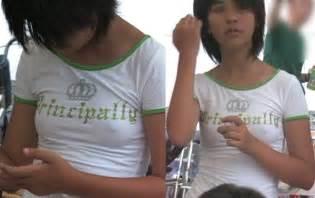 中学 乳首:... した中 生の透けエロ乳首画像