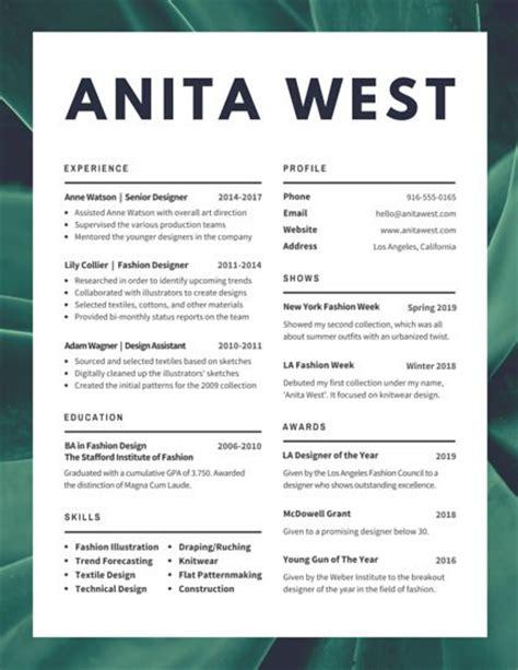 Lush Fashion Designer Resume - Templates by Canva