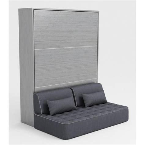 lit canapé escamotable armoire lit escamotable 140x200 gris canapé achat