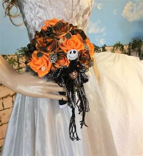 jack skellington wedding bouquet nightmare