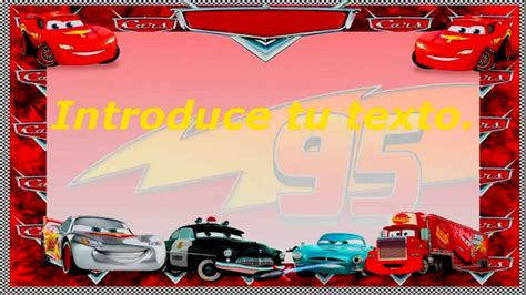 Editar Template De Texto Psd by Invitaciones Cars Plantilla Youtube