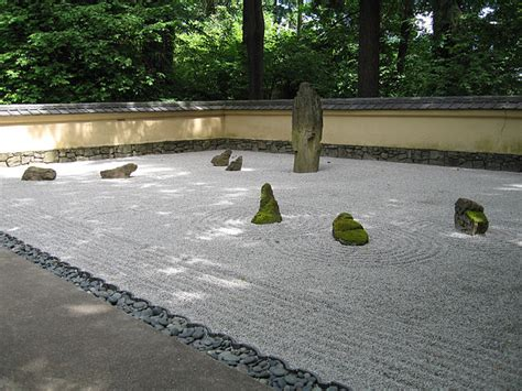 japanese garden zen gardens sand portland stone