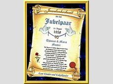 55Hochzeitstag Juwelen Hochzeit Urkunden als Geschenk